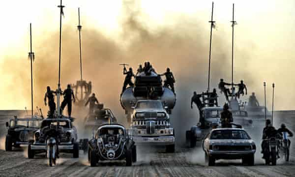 Fury Road's Frankensteinian vehicles run across the Namib Desert