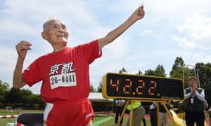 Japan's 105-year-old Golden Bolt beats his own world sprint record