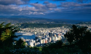 The harbour city centre of Wellington North Island New Zealand