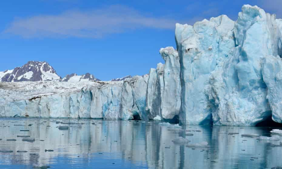 'A blue cathedral of ice': the Knud Rasmussen glacier in Greenland