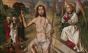 detail from Resurrection by Bartolomé Bermejo.