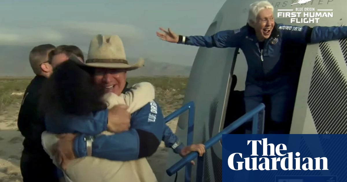 Wally Funk fulfills lifelong dream to go to space with Blue Origin flight