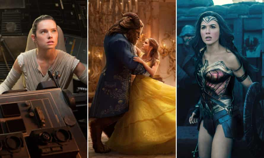 Composite: The Last Jedi, Beauty and the Beast and Wonder woman