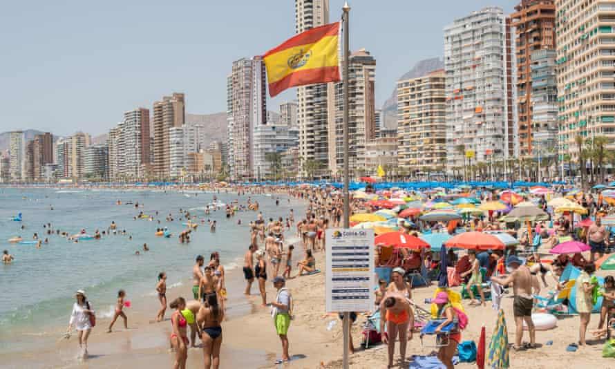 Levante Beach in Benidorm, Spain