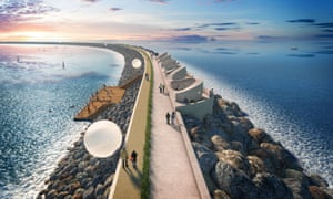 Tidal Lagoon Power's visualisation of the wall at Swansea Bay