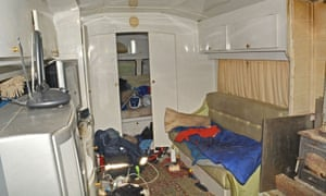 A caravan in which victims were made to live by the Rooneys.