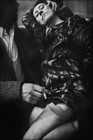 Uschi with man, Café Lehmitz, 1970.