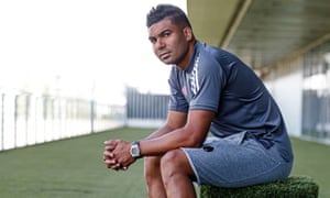 Casemiro, pictured this week before Real Madrid's Champions League game at Manchester City on Friday.