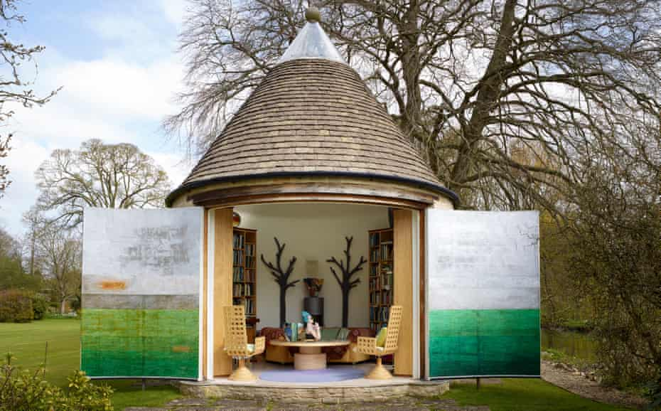 Inside story: an outdoor library in the grounds of the rectory.