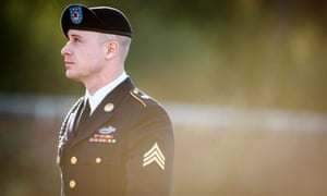 Bowe Bergdahl arrives for a pretrial hearing at Fort Bragg courthouse in California on 12 Jan 2016.