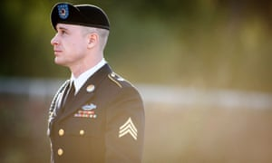 Bergdahl at a pretrial hearing at Fort Bragg courthouse, California, America, on Tuesday.