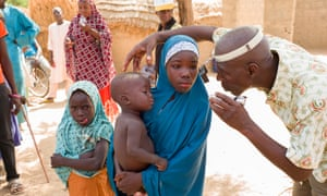 A girl has her eyes tested in Sokoto state, Nigeria