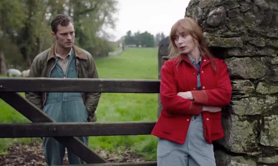 Jamie Dornan and Emily Blunt in the trailer for the film Wild Mountain Thyme.