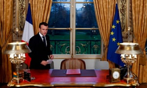 Emmanuel Macron in the Elysée Palace in Paris