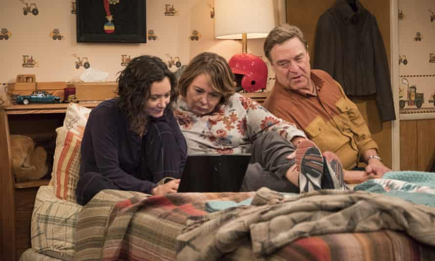 Sara Gilbert, Roseanne Barr and John Goodman.