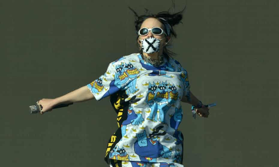 Billie Eilish, pictured at this year's Glastonbury, is the only female bill-topper at Reading and Leeds.