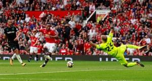 Martial scores United's third.