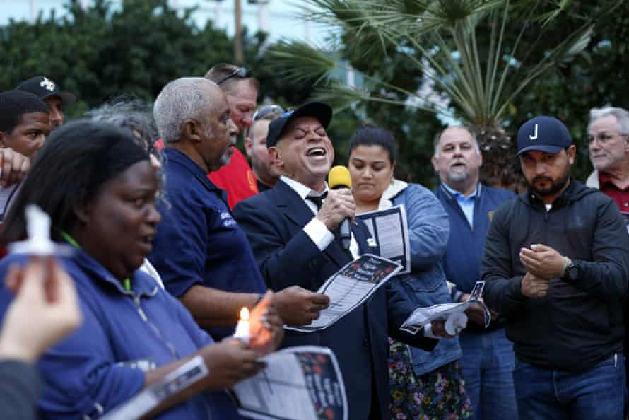 A vigil in New Orleans for those who died in New Orleans.