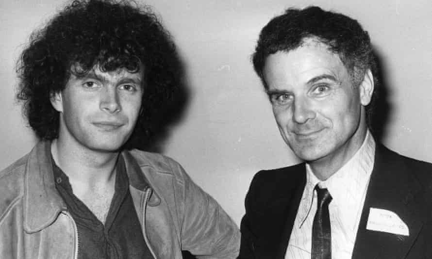Peter Maxwell Davies, right, with Simon Rattle in the early 1980s.