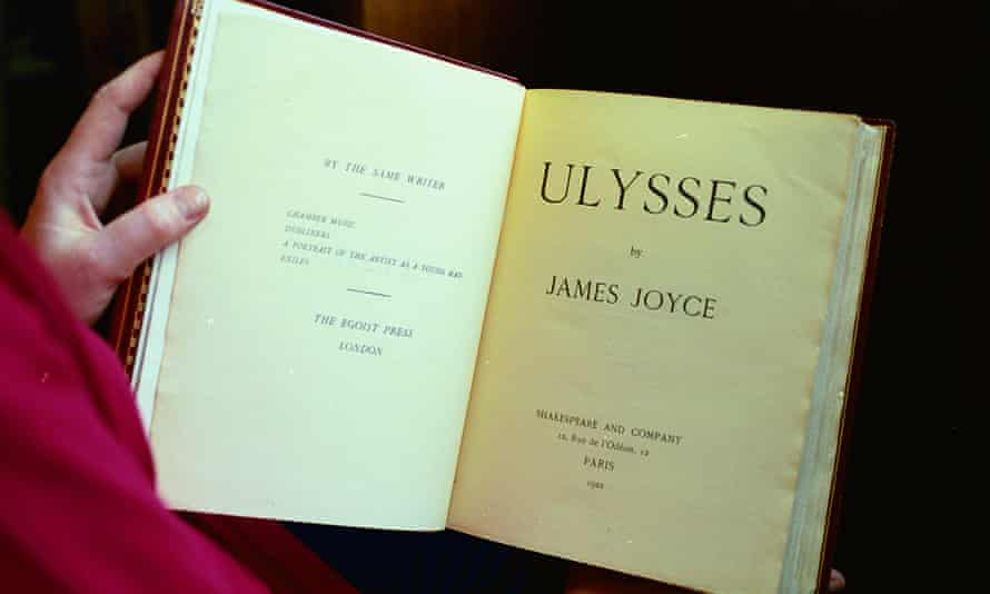 A 1922 edition of James Joyce's Ulysses.