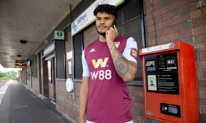 Tyrone Mings is unveiled at Witton train station, close to Villa Park.