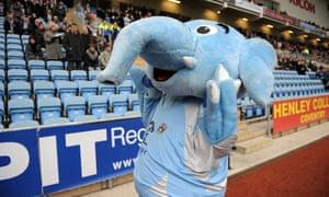Coventry City's mascot, Sky Blue Sam