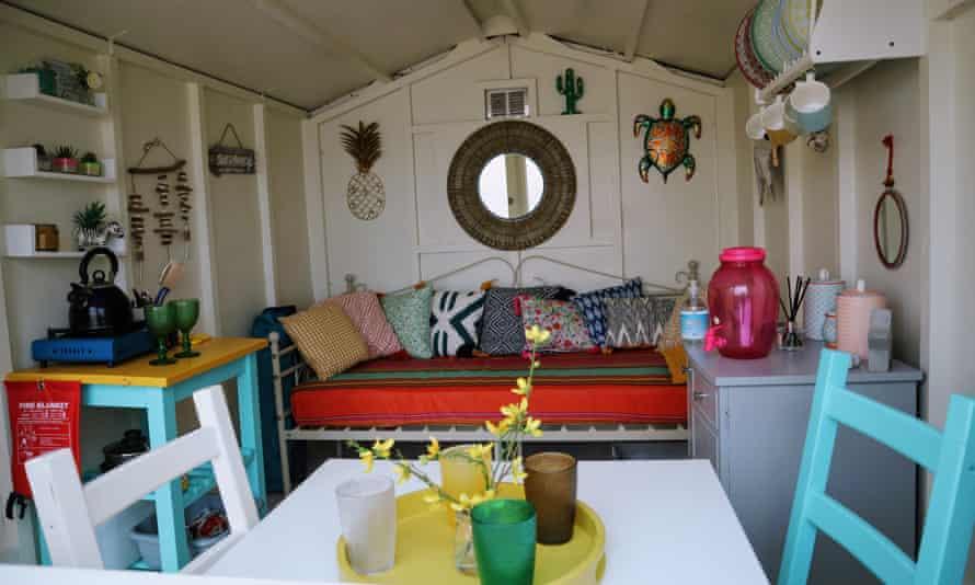 A stylish interior for a Millie's beach hut in Walton.