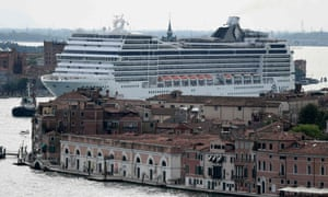 A cruise liner in the Venice lagoon