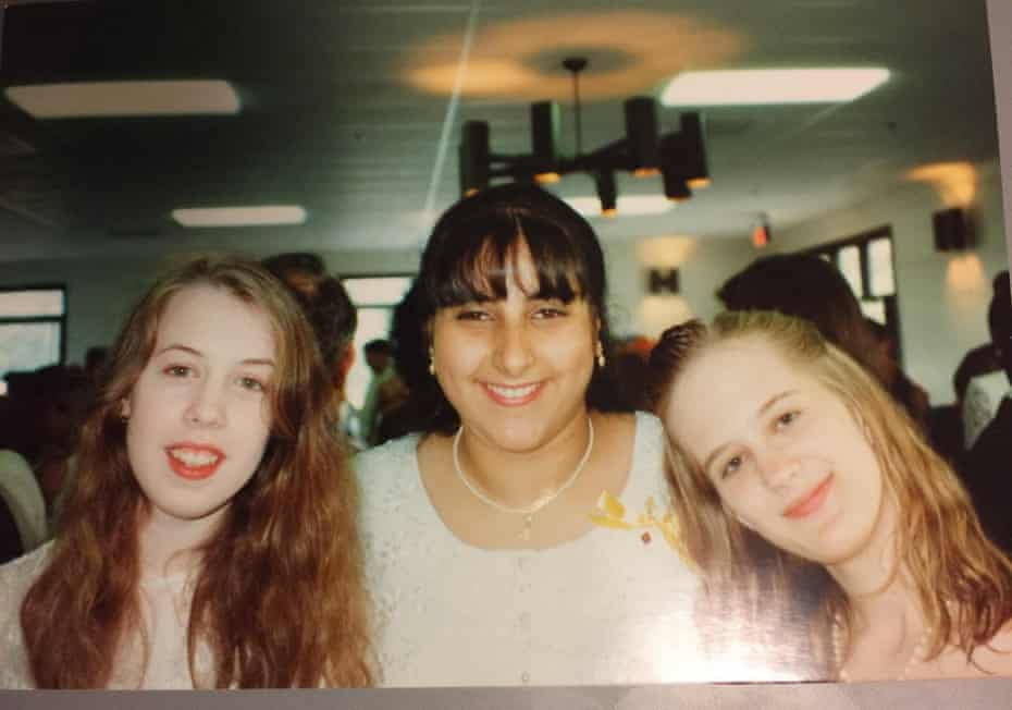 Priya Khanna with friends at her high school graduation in 1994.