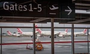 Virgin Australia aircraft at Perth domestic airport