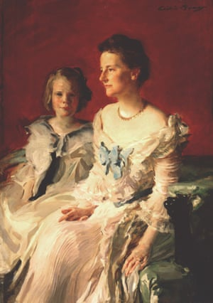 Edith and Ethel Roosevelt by Cecilia Beaux Oil