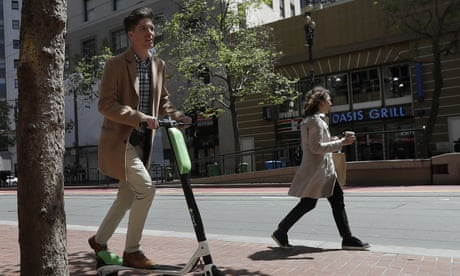 Scooters littering US city streets shout at people: 'Unlock me or I