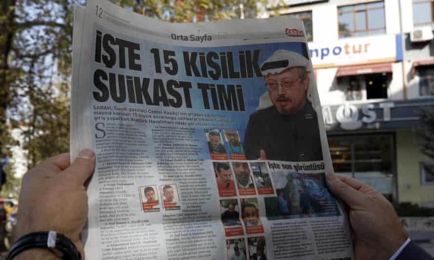 A man reads the Sabah newspaper