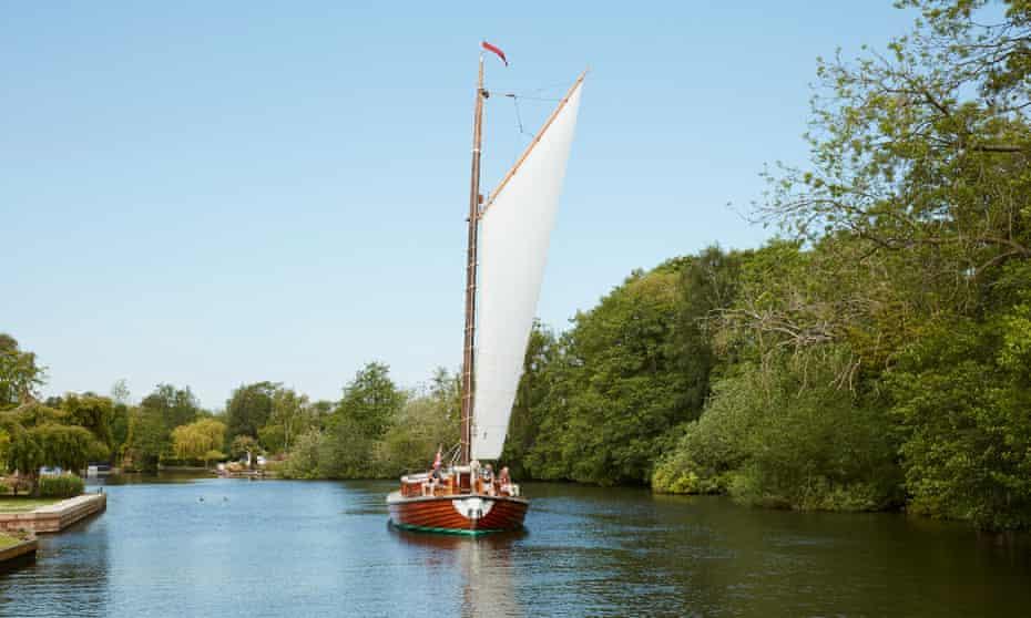 The Ardea in sail.