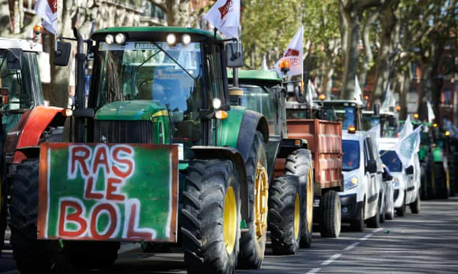 Farmers protest in Toulouse in April against common agricultural policy reform negotiations.