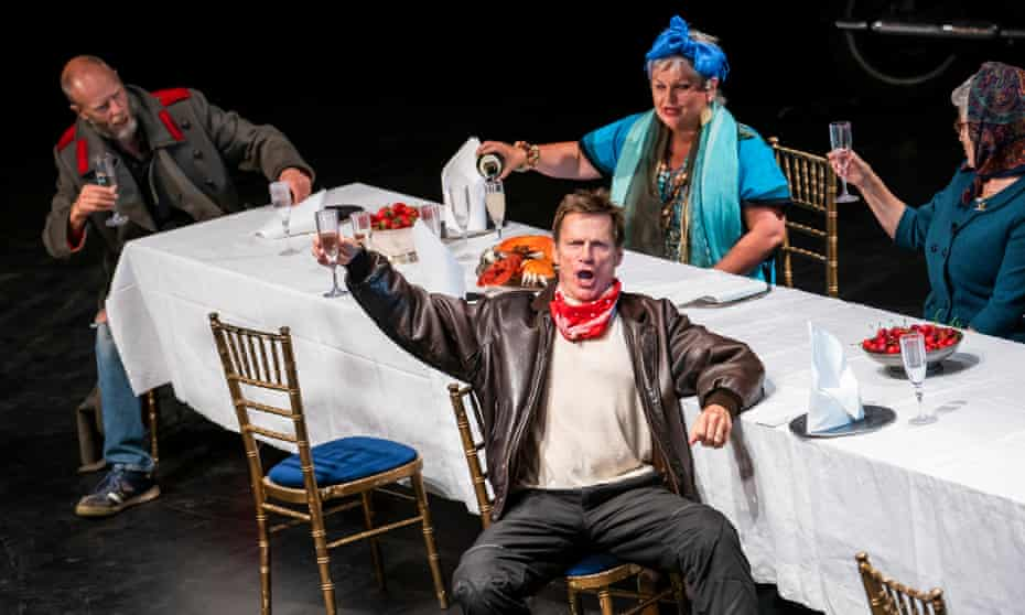 Will Dazeley, Simon Keenlyside, Susan Bullock and Janis Kelly in A Feast in the Time of Plague at Grange Park Opera.