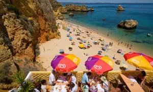 Dona Ana beach in the Algarve, Portugal