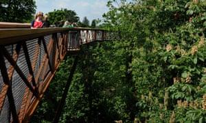 The Treetop Walkway at Kew Gardens, London.