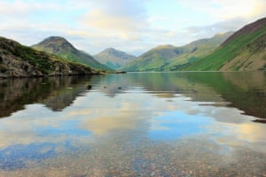 """Looking across the Lake""""This was my view towards Scafell pike, Lake District."""""""