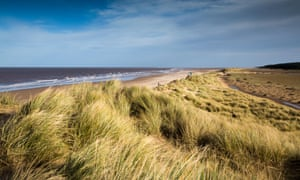 Windy day at Holkham Beach,