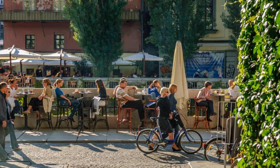 Summer cafes in Ljubljana