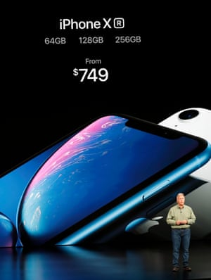 Schiller Senior Vice President, Worldwide Marketing of Apple, speaks about the new Apple iPhone XR at an Apple Inc product launch in CupertinoPhilip W. Schiller, Senior Vice President, Worldwide Marketing of Apple, speaks about the new Apple iPhone XR at an Apple Inc product launch event at the Steve Jobs Theater in Cupertino, California, U.S., September 12, 2018. REUTERS/Stephen Lam