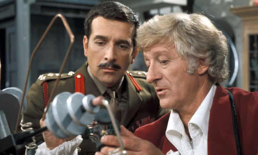 Back to the future ... Brigadier Lethbridge-Stewart (Nicholas Courtney) and Doctor Who (Jon Pertwee) (1970).