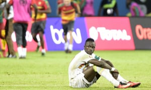 Senegal's Sadio Mané after penalty shootout v Cameroon