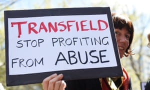 An immigration rally outside Transfield headquarters, organised by a group of unions concerned about the Human Rights violations occurring in Immigration Detention centres in Melbourne, Friday, Sept. 25, 2015. (AAP Image/Tracey Nearmy) NO ARCHIVING