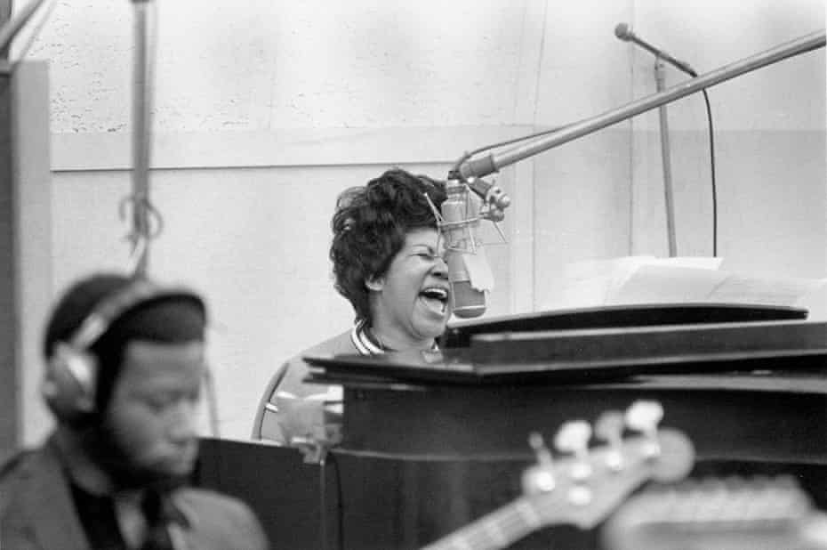 Aretha Franklin recording The Weight, January 1969.