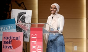 Listen up: speaking at a Teen Vogue summit in 2018.