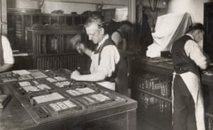 A Daily Mail typestetter in the 1930s