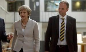 Theresa May with Gavin Barwell