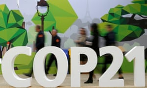 The COP 21 logo in the World Climate Change Conference 2015 at Le Bourget